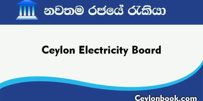 Government Jobs-Ceylon Electricity Board